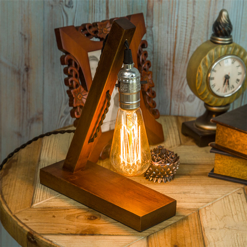 Edison Bulb Light Ideas 22 Floor Pendant Table Lamps: Aliexpress.com : Buy Vintage Brief Wooden Edison Bulbs