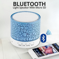 Mini LED Portable Bluetooth Speakers Wireless Hands Free Speaker With TF USB FM Mic Blutooth Music