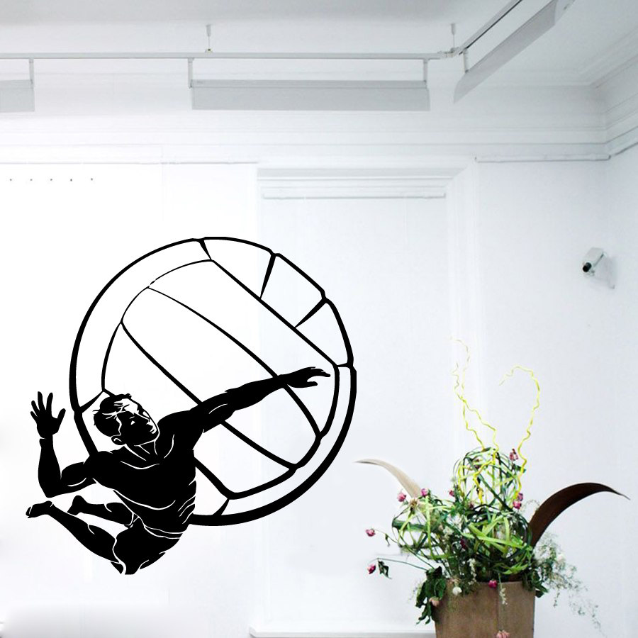 Popular Volleyball WallBuy Cheap Volleyball Wall Lots From China - Vinyl volleyball wall decals