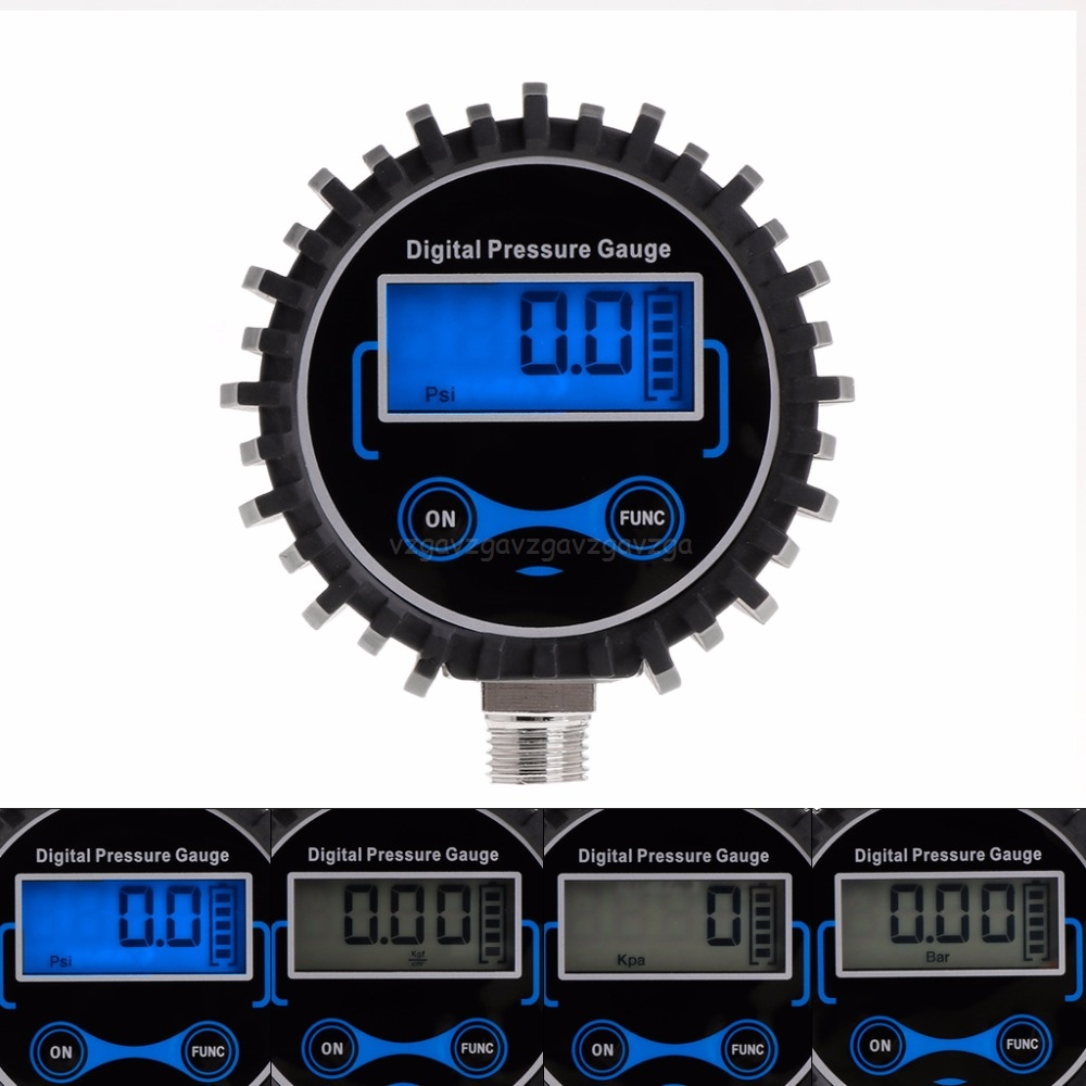 Digital Tire Pressure Gauge Car Truck Auto Motorcycle Tyre Air PSI Meter Pressure Monitor 0-230PSI 1/4