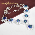 Free shipping - Hot sales fashion jewelry rainbow mystic Created topaz statement necklace
