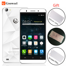 In Stock Gooweel M5 Pro smartphone MTK6580 quad core 5 inch IPS mobile phone 1GB RAM 8GB ROM 5MP+8MP camera GPS 3G cell phone