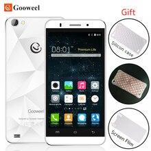 En stock gooweel m5 pro smartphone mtk6580 quad core 5 pulgadas ips teléfono móvil 1 GB RAM 8 GB ROM cámara de 5MP + 8MP GPS 3G del teléfono celular