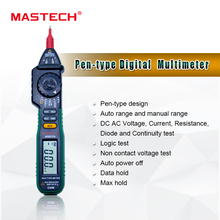Pen-Type Digital Multimeter MS8212A Pen type Digital  Ammeter Multitester With Logic and Non-Contact Voltage Test