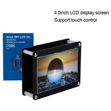 4.0Inch LCD Screen 480x320 Touch Control LCD Display Screen+Black Acrylic Case for Raspberry Pi(China)