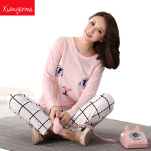 Xiangerma Pokemon Brand Women Winter Warm Thermal Pyjama Long Sleeve Sleepwear Soft Home Lounge Tops & Bottoms Pajamas