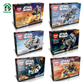 Star Wars Theme 6 set Lot  Lepin Micro STAR WNRS Fighters Building Blocks Compatible with Lego Bricks Model & Building Toys