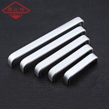Handle Modern Minimalist Silver Wardrobe Cupboard Aluminum Alloy Door Nordic Long Drawer