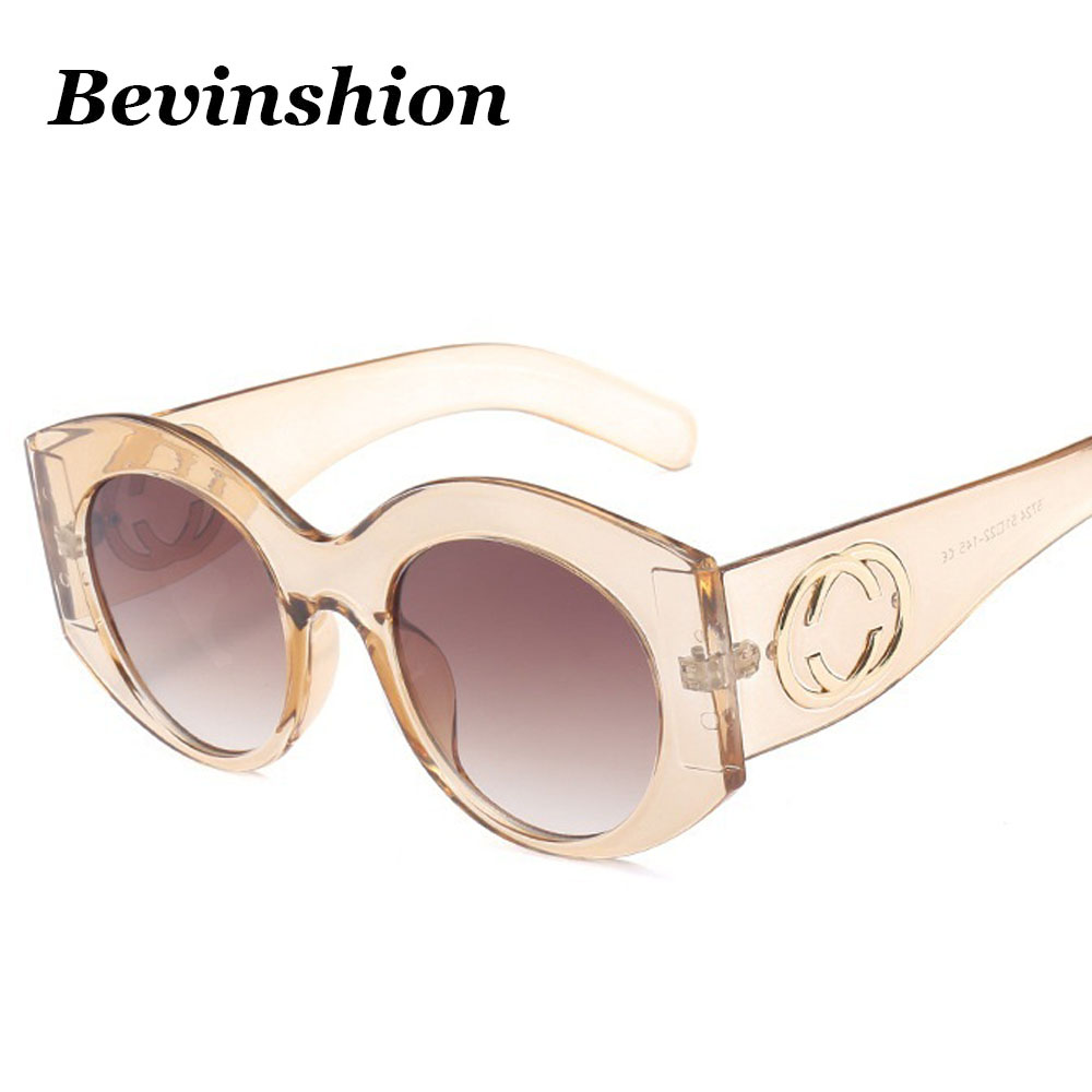 2ba336ae8b75 Brand Wild Cool Round Sunglasses Women Men Cat Eye Big Frame New Year 2018 Sun  Glasses Couple Oversized Wrap Gradeint Vintage HD-in Sunglasses from  Women s ...