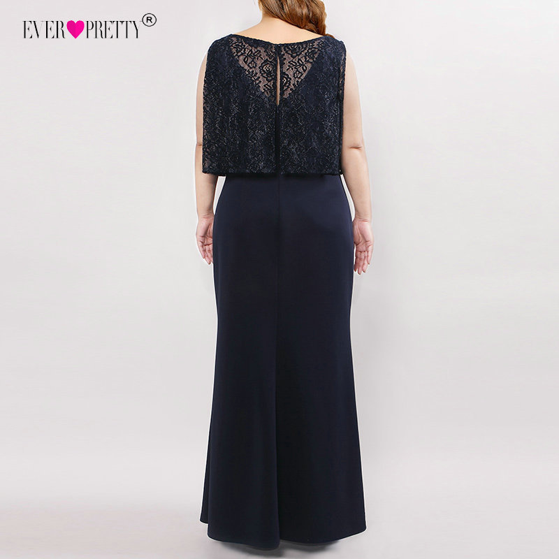 Image 3 - Plus Size Mother Of The Bride Dresses Elegant Straight Sleeveless Illusion Lace Long Formal Party Gown Ever Pretty Vestido Novia-in Mother of the Bride Dresses from Weddings & Events
