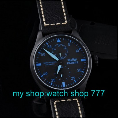 Parnis 47mm Big dial pilot Style watch Automatic mechanical movement Men s watch PVD Luxury watches