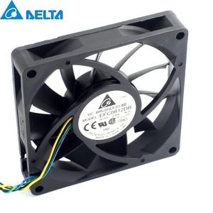 Image 1 - 1pcs 8CM 80MM 8015 8*8*1.5CM 80*80*15MM 12V 0.5A 4 wire PWM Fan EFC0812DB Cooling fan For Delta