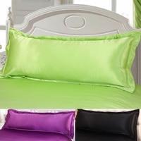Super King150*47cm 100% Double Face Envelope Satin Silk Long Pillowcase sabanas Double Pillow Cover Linen Big Body pillowcase