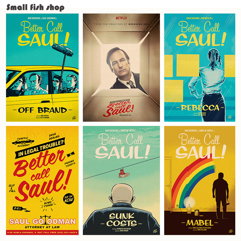 better call saul season home furnishing decoration kraft game poster drawing core wall stickers