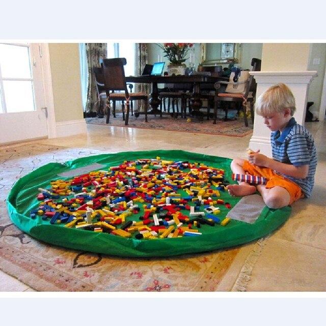 אחסון תיק עבור צעצוע אוקספורד מתקפל שרוך נמל קורה גמר ילדי צעצוע ארגונית נוח מחוץ פיקניק לשחק מחצלת