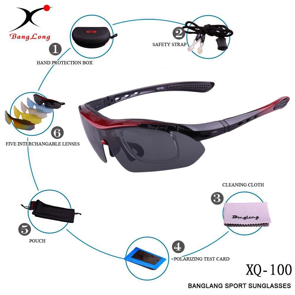 BangLong Polariserad Cykling Solglasögon Utomhus Cykelglasögon - Sportkläder och accessoarer