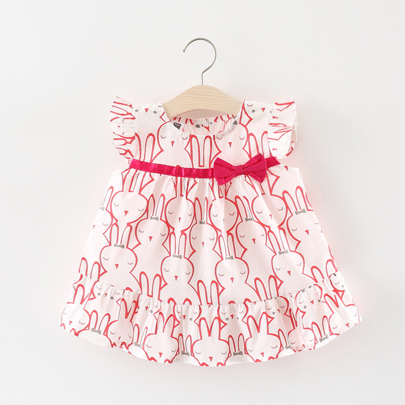 Fashion Baby Girl Dress Cotton Infant Dress Ruffles Sleeveless Casual Style Toddler Girl Dress Summer Baby Clothing 2018