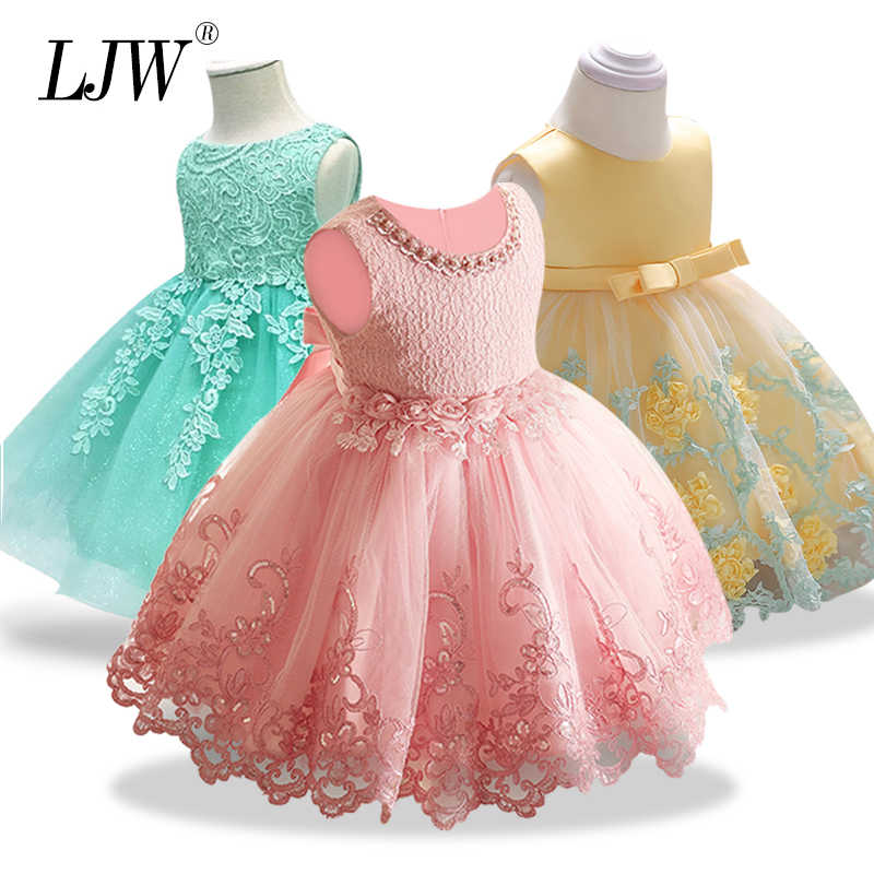 a2ca408325 Hot Sale Baby Girl Princess Ball Gown Dress Flower Lace Children Bridemaid  For Wedding Party Prom