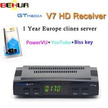 Genuine V7 V7S HD DVB S2 Satellite Receiver Cline Newcam TV Box Auto Roll Power