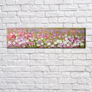 Pink Flower Garden Classic Picture Handpainted Abstract Oil Painting On Canvas Wall Art Wall Pictures For Living Room Home Decor