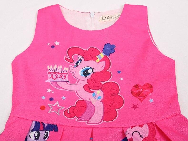 Summer Princess Little Pony Rainbow Dresses For Girls Halloween Birthday Party My Baby Unicorn Vestidos Dress Clothing 2