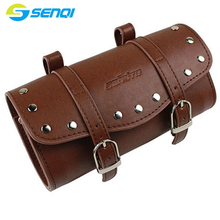 Retro bicycle Saddle Bag Cycling Storage Vintage Bag PU leather