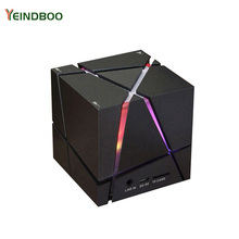 YEINDBOO Portable Mini Bluetooth Speaker LED 3W Stereo Sound Box Mp3 Player Subwoofer Speakers Built-in 500mAh Battery