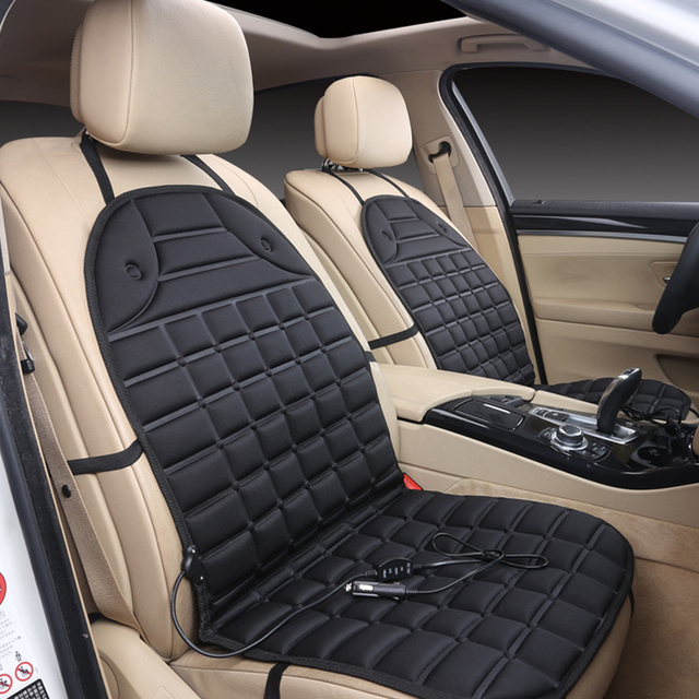 Warm Car Seat Covers for Cold Days Heated Cushion Seat Cover Auto Car 12V Electirc Seat Heater Heating Pad Car-Covers Black