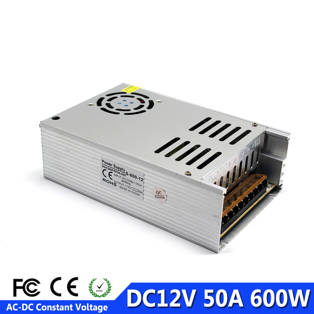New Arrival DC12V 50A 600W Power Supply LED Driver Transformer 220V ...