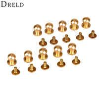 10 pcs Ferramentas De Couro Rebite Saco De Bronze Parafuso Botão de Costura Botões Decorativos Pregos botones parágrafos manualidades 5/6/ 7/8/9/10mm