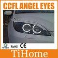 Free envio ccfl angel eyes halo anéis kit para mazda3 m3 não projetor ccfl angeleyes luzes para mazda 3