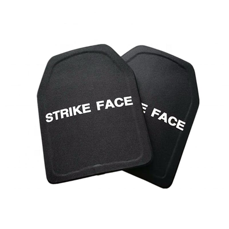 2pc STA Shooter Cut NIJ III Level Bulletproof Plate Anti ballistic Ceramic PlateSelf Defense Supplies   -