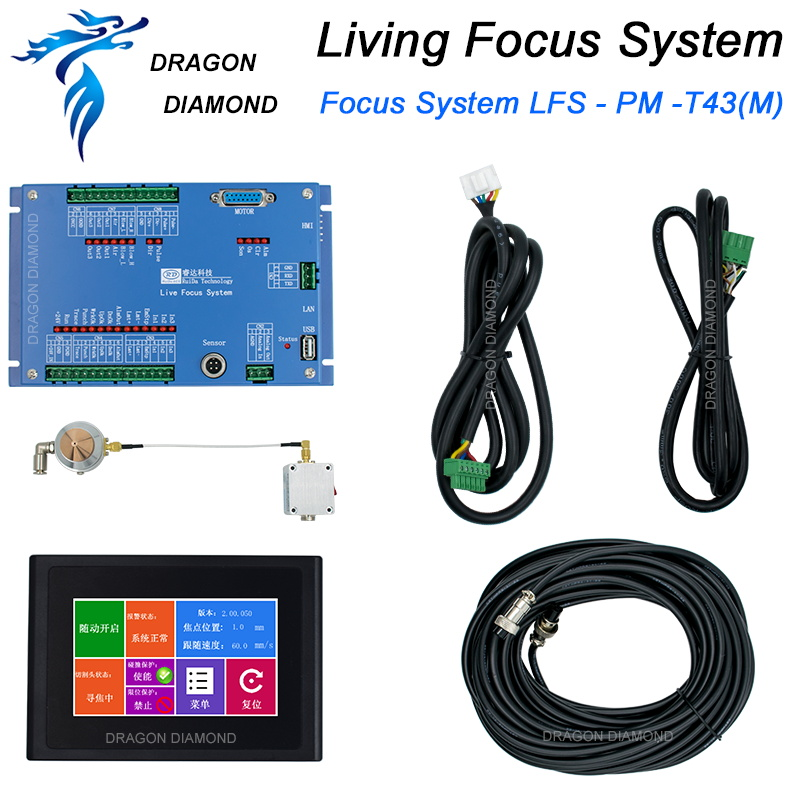 Controlador Ruida LFS-PM-T43 Analógico Metal Ao Vivo Sistema de Foco Com Tela Sensível Ao Toque para Máquina de Corte A Laser de Metal
