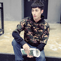 New Fashion Men Hiphop Kanye West Hoodie Sweatshirt Fake Two Piece Camo Hoodie Men Patchwork Camouflage Pullover Tracksuit