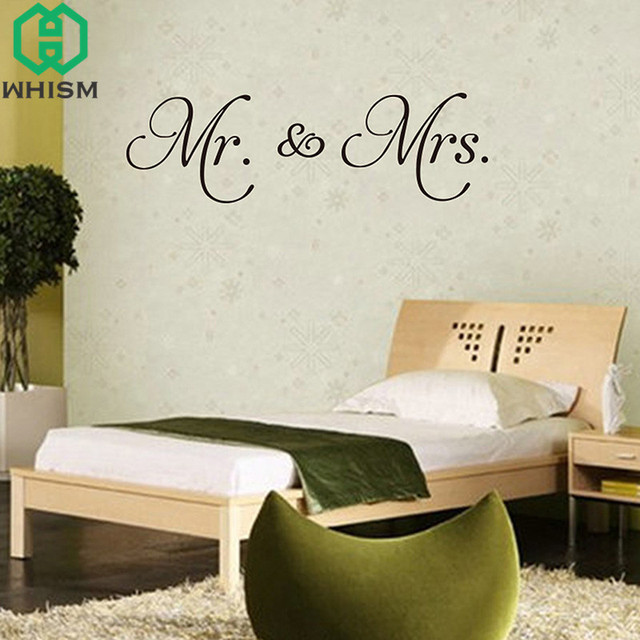 WHISM DIY Mr. U0026 Mrs. PVC Wall Decal Stickers Bedroom Removable Wallpaper  Wall Sticker