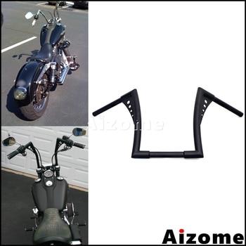 "Motorcycle el Diablo Handlebar For Harley Sportster Softail Dyna Street Bob Custom 12"" Rise Ape Hanger Z Bar 1-1/4"" Fat Bar"
