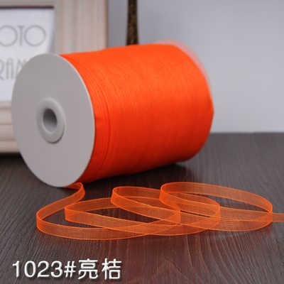 ターコイズ (10 メートル/ロット) 1/4 ''(6 ミリメートル) オーガンジーリボン卸売ウェディングクリスマス装飾ギフト包装リボン