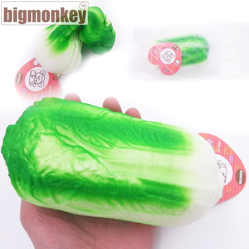 imágenes para Mono grande Nueva venta caliente 14.5 CM kawaii jumbo col Vegetal lento aumento encanto Blando squeeze toy