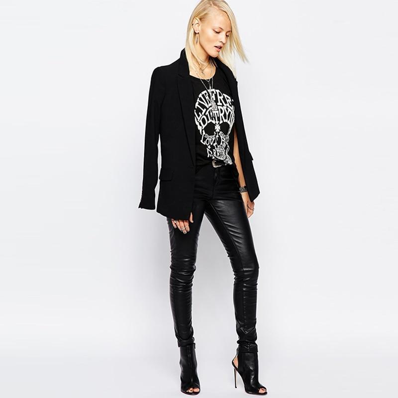 RockPunkSkullPrintedShirt