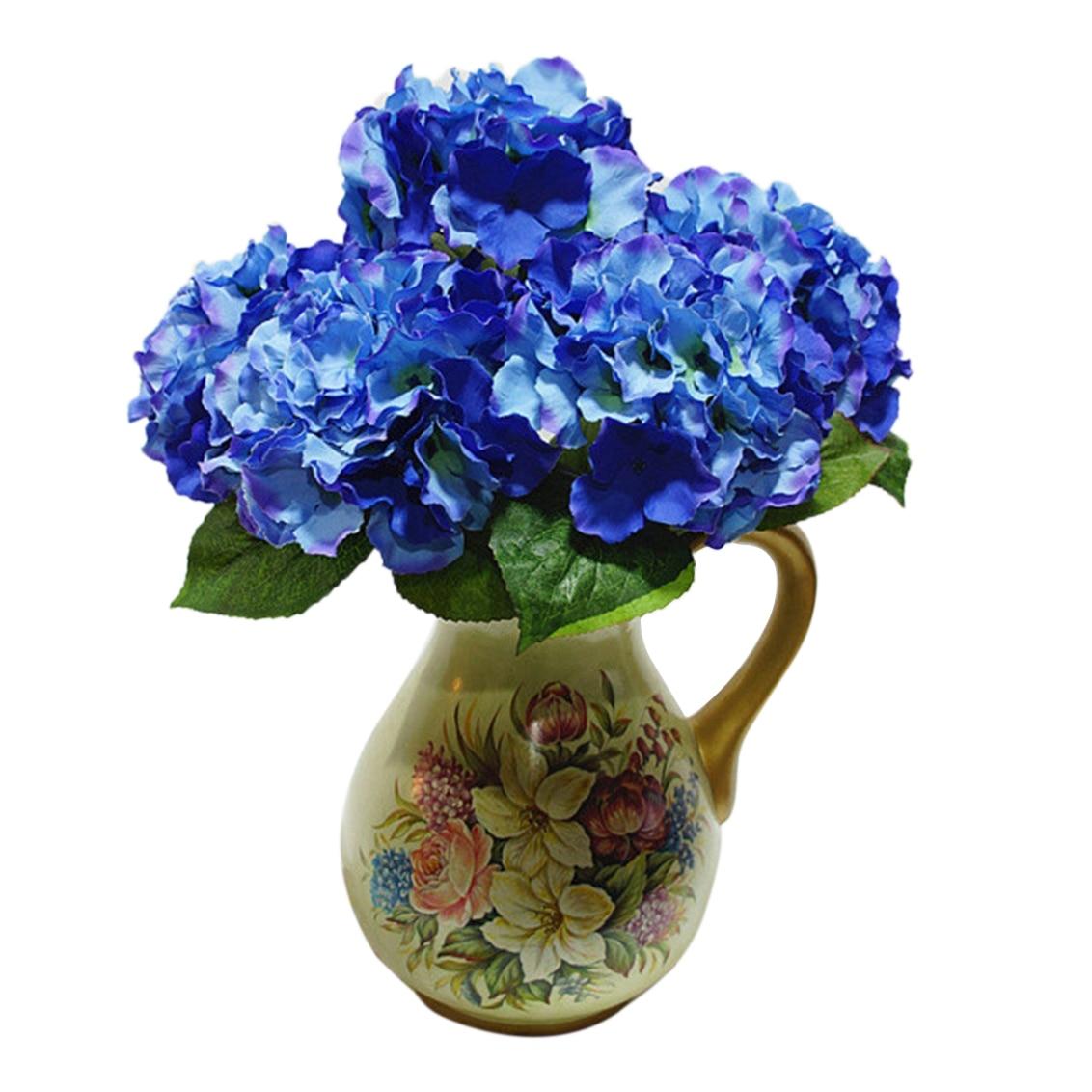 Botique Artificial Hydrangea 5 Flower Heads Bouquet