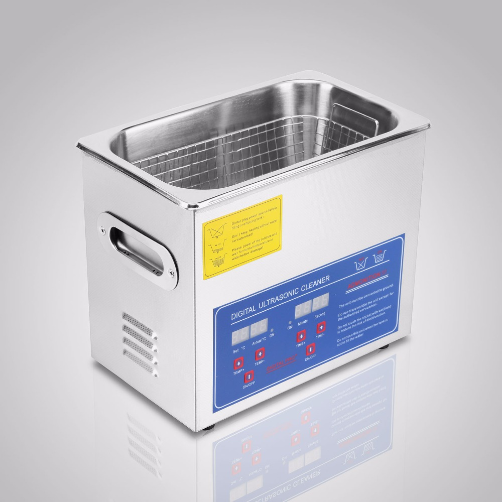 VEVOR JPS-20A Professional Digital 3L Ultrasonic Jewelry Cleaner with CE in US warehouse ce 5200a professional digital ultrasonic jewelry