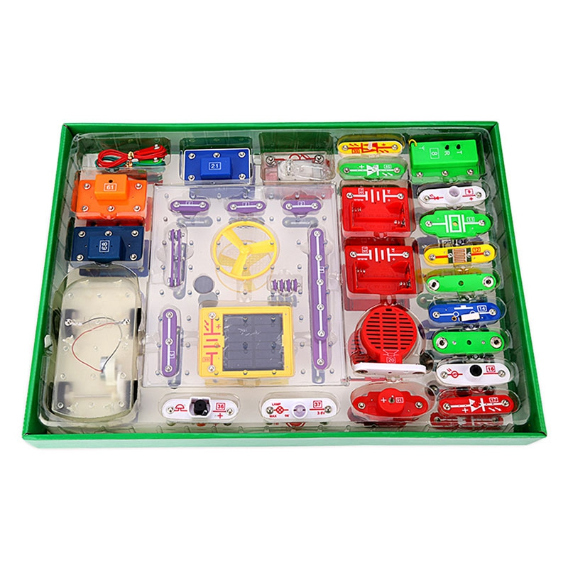 New Educational Electronics Blocks Kit Kids Toys Solar Car Educational Snap Circuits Electronics Discovery Kit Science Toys brand new yuxin zhisheng huanglong high bright stickerless 9x9x9 speed magic cube puzzle game cubes educational toys for kids