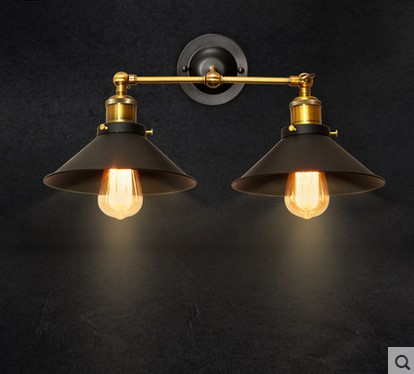 American Style Loft Vintage Industrial Wall Lamp With 2 Lights For Home, Edison Wall Sconce Fixtures Arandela great wall style building home with jim spear
