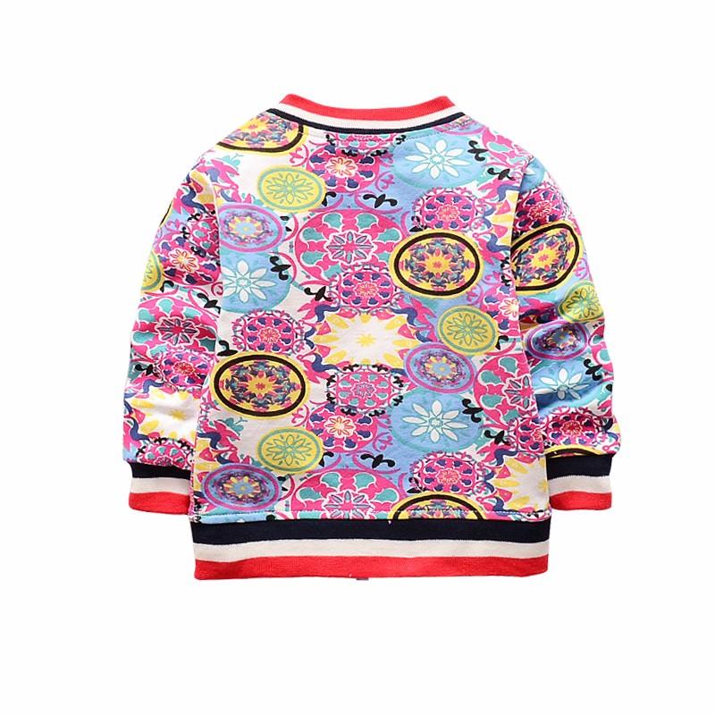 New Baby Coats Print Boys Girls Jackets Spring Autumn V Neck Cardigan Coat Fashion Infant Cotton Coat 7-24 Months Baby Clothing (2)