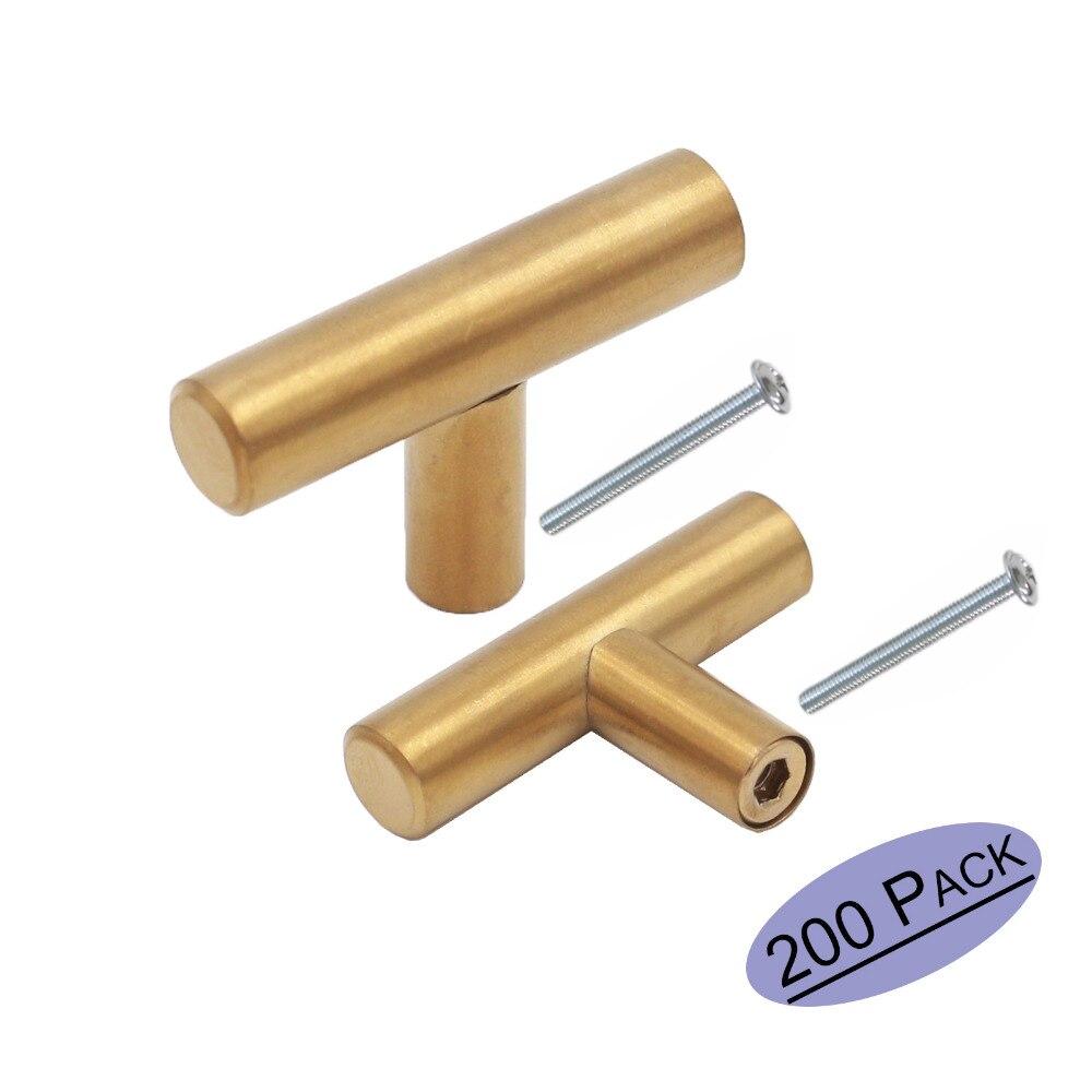 Golden Brushed Brass Cabinet Drawer Knobs Ls201gd