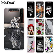 Soft Case FOR Samsung Galaxy A80 A 80 A805 SM-A805F A805F Case Cover Phone Back Protetive Coque FOR Samsung A80 Case Galaxy A80 tanie tanio Fitted Case Dirt-resistant GALAXY A SERIES Sports Patterned Animal cute Transparent Business unicorn Floral 6 7 INCH cartoon Printing soft silicone case cover
