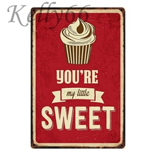 [Kelly66] Youyou MY LITTLE SWEET Vintage Metal Sign Poster decoración del hogar Bar pared arte pintura 20*30 CM tamaño y-1179