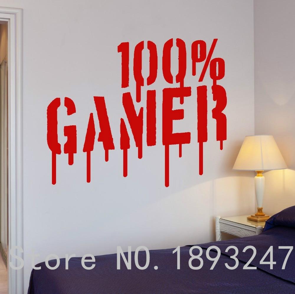 Free Shipping Gamer Video Games Computer Boys Kids Room Vinyl Decal Home Decor Wall Sticker VInyl Decoration Wall Mural