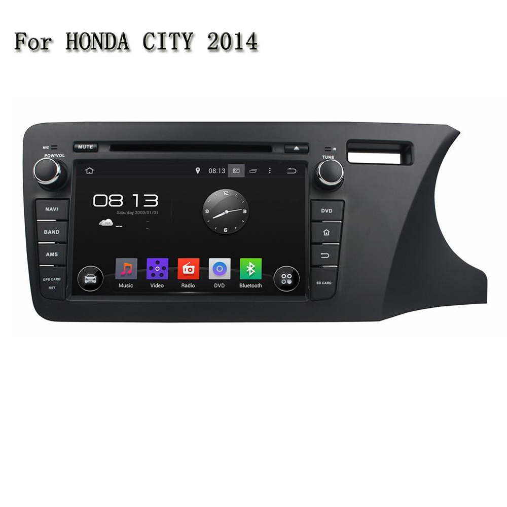 8 Android 5.1.1 Car Audio System Right Drive Car DVD Player For Honda City 2014 Built-In Speaker/Microphone Support 3G/4G