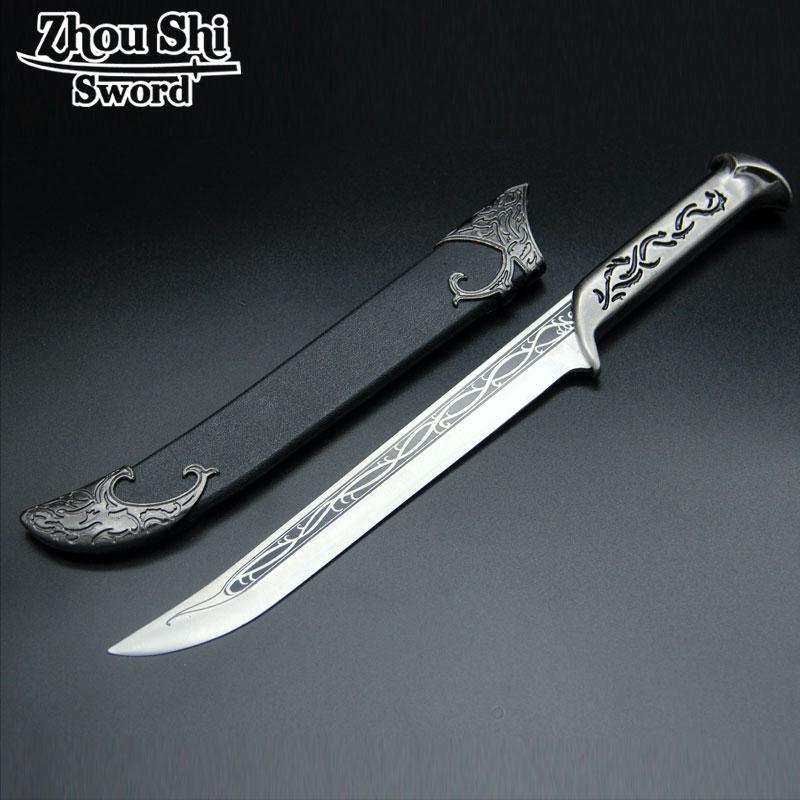 Européenne exquise petite épée cadeaux décoration de la maison épée lame en acier inoxydable une petite épée accessoires Kosplay